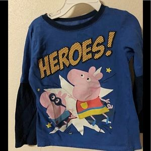 🍭Peppa Pig Shirt for Toddler Boy size 5T